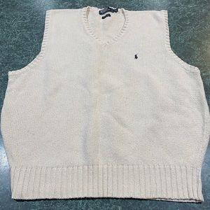 Polo By Ralph Lauren Cream Sweater Vest Size XXL